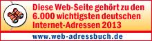 Logo Webadressbuch 2013 - druckereien.info ist eine der wichtigsten Deutschen Internetseiten.